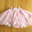 PRINCESS EXPRESSIONS GIRL'S SIZE   -  PINK TUTU SKIRT NETTING SATIN BOWS NEW