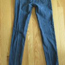 BULLHEAD WOMEN'S SIZE 1 R JEANS MED BLUE ASIAN DENIM SUPER SKINNY ULTRA LOW