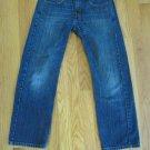 LEVI'S 569 BOY'S SIZE 10 R ACTUAL (28 X 25) JEANS DARK BLUE ASIAN DENIM STRAIGHT LEG  RED TAB