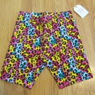 FADED GLORY GIRL'S SIZE M (7 - 8) BIKE SHORTS RAINBOW CHEETAH ANIMAL PRINT ATHLETIC YOGA NWT