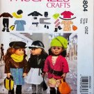 "McCALL'S 6804 AMERICAN GIRL 18"" DOLL CLOTHES PATTERN NEW MODERN JACKETS DRESS LEGGINGS"