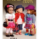 "McCALL'S 6764 AMERICAN GIRL 18"" DOLL CLOTHES PATTERN NEW MODERN LAURA ASHLEY SEPARATES"