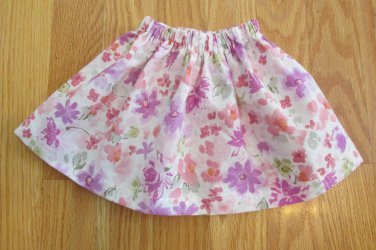 "AMERICAN GIRL 18"" DOLL CLOTHES LAVENDER & CORAL FLORAL SKIRT LIFE OF FAITH MOLLY EMILY NEW"