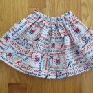 "AMERICAN GIRL 18"" DOLL CLOTHES RED WHITE & BLUE REPUBLICAN SKIRT PATRIOTIC LIFE OF FAITH MOLLY"