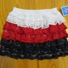 AMERICANA GIRL'S SIZE 3 T SKIRT RED, WHITE, & BLUE LACE TUTU PATRIOTIC NWT