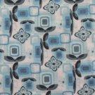 NO BOUNDARIES WOMEN'S JUNIOR'S SIZE M (7 -9) DRESS BLUE & BLACK FLORAL TUNIC V NECK 3/4 SLEEVE