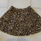 FOREVER 21 WOMEN'S JUNIOR'S SIZE XS SKIRT BROWN, TAN, BLACK ANIMAL LEOPARD GORED MINI