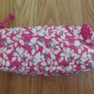CASEMATE WOMEN'S GIRL'S CASE, BAG, FUCHSIA PINK ZIPPERED QUILTED PENCIL CROCHET MAKEUP COSMETIC NWT