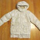GAP GIRL'S SIZE XL 12 COAT BEIGE DOWN PARKA WINTER OUTERWEAR JACKET W/ HOOD