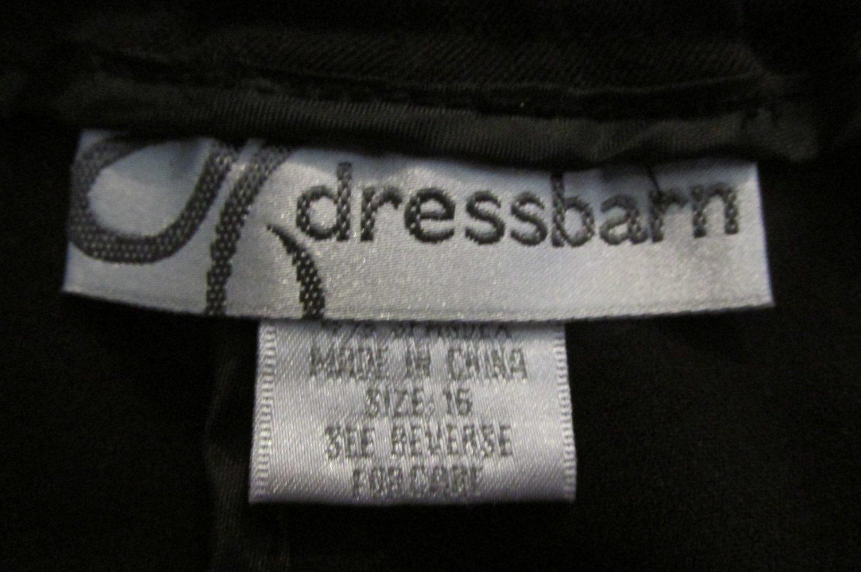 DRESSBARN WOMEN'S SIZE 16 PANTS BLACK HIGH RISE SLACKS FRONT PLEATS OFFICE DRESS CAREER