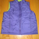STUDIO WORKS WOMEN'S SIZE M VEST PURPLE JACKET PUFFER OUTERWEAR REVERSIBLE LIME FLEECE COAT