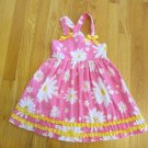 YOUNGHEARTS GIRL'S SIZE 4 DRESS PINK, YELLOW, & WHITE DAISIES SHABBY CHIC COUNTRY SUN CHURCH