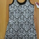 NO BOUNDARIES WOMEN'S JUNIOR'S SIZE S (3 - 5) TANK TOP BLACK & SILVER SHIRT CHRISTMAS HOLIDAY NWT
