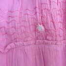 MAMTA WOMEN'S ONE SIZE SKIRT DARK PINK GUAZE TIERED CRINKLE RUFFLE SEQUINS BOHO GYSPY