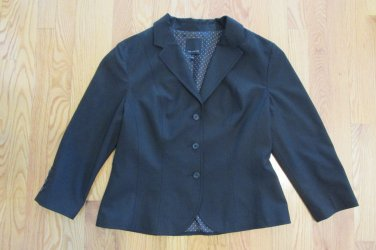 THE LIMITED WOMEN'S SIZE 12 SUIT JACKET BLACK BLAZER COAT OFFICE CAREER