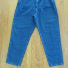 LEE 1889 WOMEN'S SIZE 18 P JEANS MEDIUM BLUE STONE WASHED HIGH WAIST MOM VINTAGE 80'S TAPERED LEGS