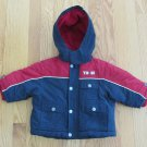 TOMMY HILFIGER BOY'S SIZE 6 - 12 mo. COAT RED, WHITE, & BLUE WINTER OUTERWEAR JACKET HOOD