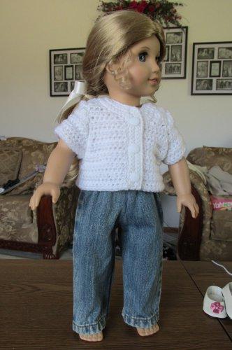 "AMERICAN GIRL 18"" DOLL CLOTHES DENIM BLUE JEANS BOY LOGAN, TENNEY SKINNY MODERN DISTRESSED NEW"