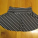 JOEY B WOMEN'S SIZE M SKIRT BLACK & WHITE STRIPE SWIM GYMNASTICS DANCE ICE SKATING