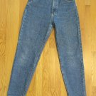 LEE 1889 WOMEN'S SIZE 10 JEANS MED. BLUE STONE WASHED DENIM HIGH WAIST TAPERED LEGS MOM