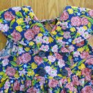 YOUNGHEARTS GIRL'S SIZE 6 DRESS BLUE, YELLOW, & PINK FLORAL EASTER CHURCH SUN