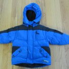 ROTHSCHILD BELOW ZERO BOY'S SIZE 2 T WINTER COAT BLUE & BLACK OUTERWEAR HOOD FLEECE