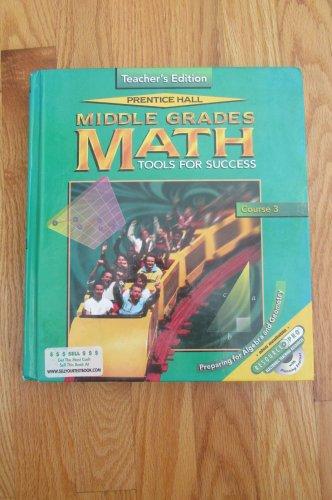 PRENTICE HALL MIDDLE GRADES MATH HOMESCHOOL TEACHER'S EDITION BOOK ISBN # 0-13-434688-2  1999