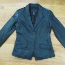 JACLYN SMITH WOMEN'S SIZE 10 JACKET BLACK LEATHER SUIT COAT