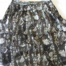 WORTHINGTON WOMEN'S SIZE 4 SKIRT GRAY & BLACK TIERED EXPOSED ZIPPER