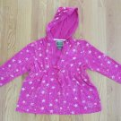 US POLO ASSN WOMEN'S JUNIOR'S SIZE XL 19 TOP DARK PINK W/ STARS HODDIE LONG SLEEVES