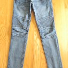 DECREE WOMEN'S SIZE 1 JEANS MED BLUE ASIAN DENIM SUPER SKINNY ULTRA LOW