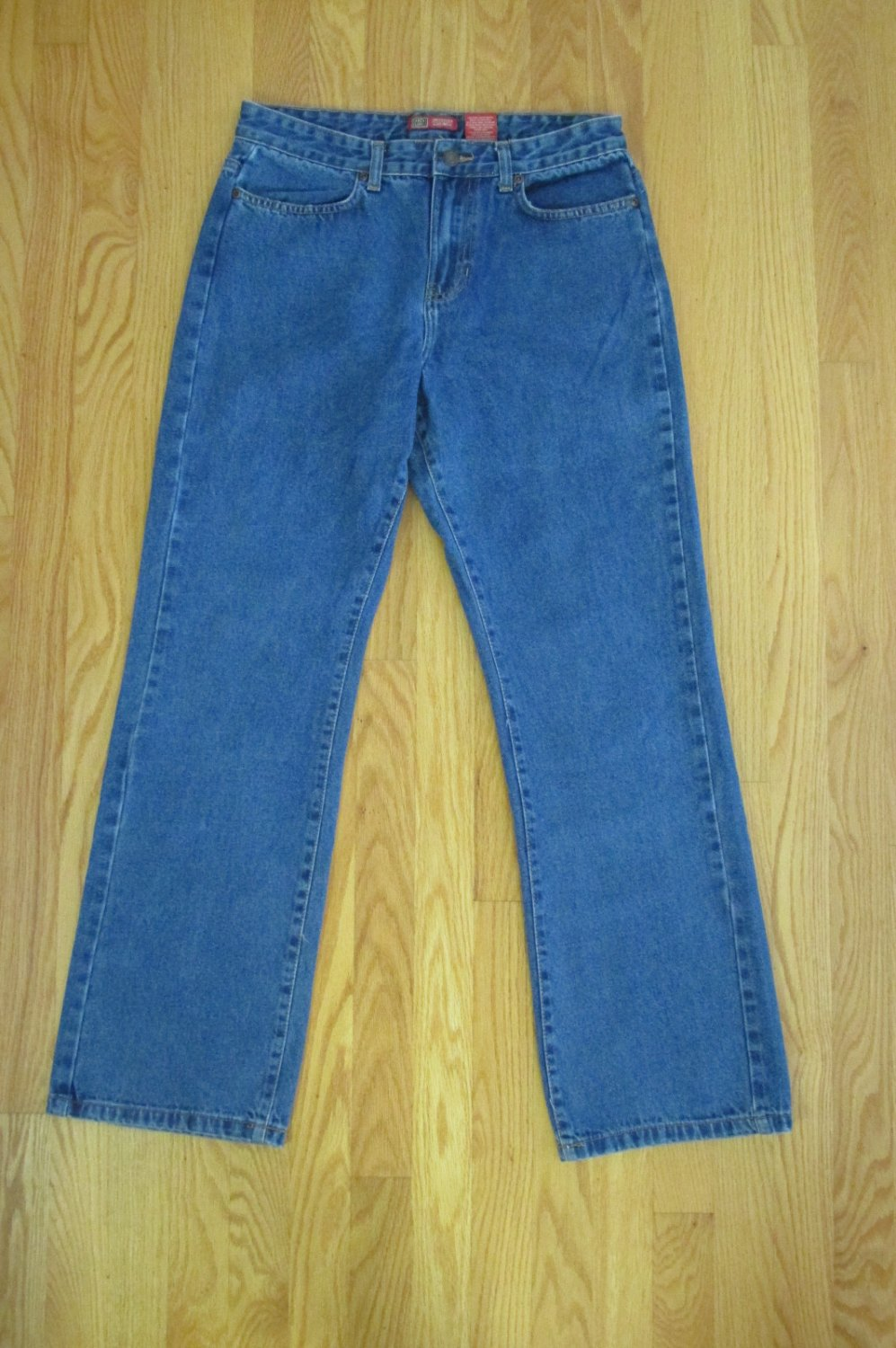 FADED GLORY WOMEN'S SIZE 12 AVG JEANS MED BLUE DENIM BOOT CUT COUNTRY WESTERN COW BOY GIRL