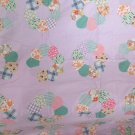 "1930's, 1940's, 1950's VINTAGE QUILT TOP DRESDEN PLATE ON LAVENDER  71"" x 77"" TABLECLOTH APPLIQUE"