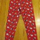 AMERICAN WEEKEND GIRL'S SIZE 7 / 8 LEGGINGS RED CHRISTMAS WINTER SNOWMAN VINTAGE