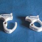 2 White Cable Clamps - New