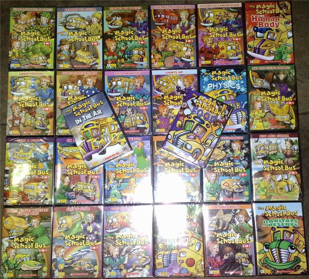 THE MAGIC SCHOOL BUS DVD Set of 26 Titles Brand New!