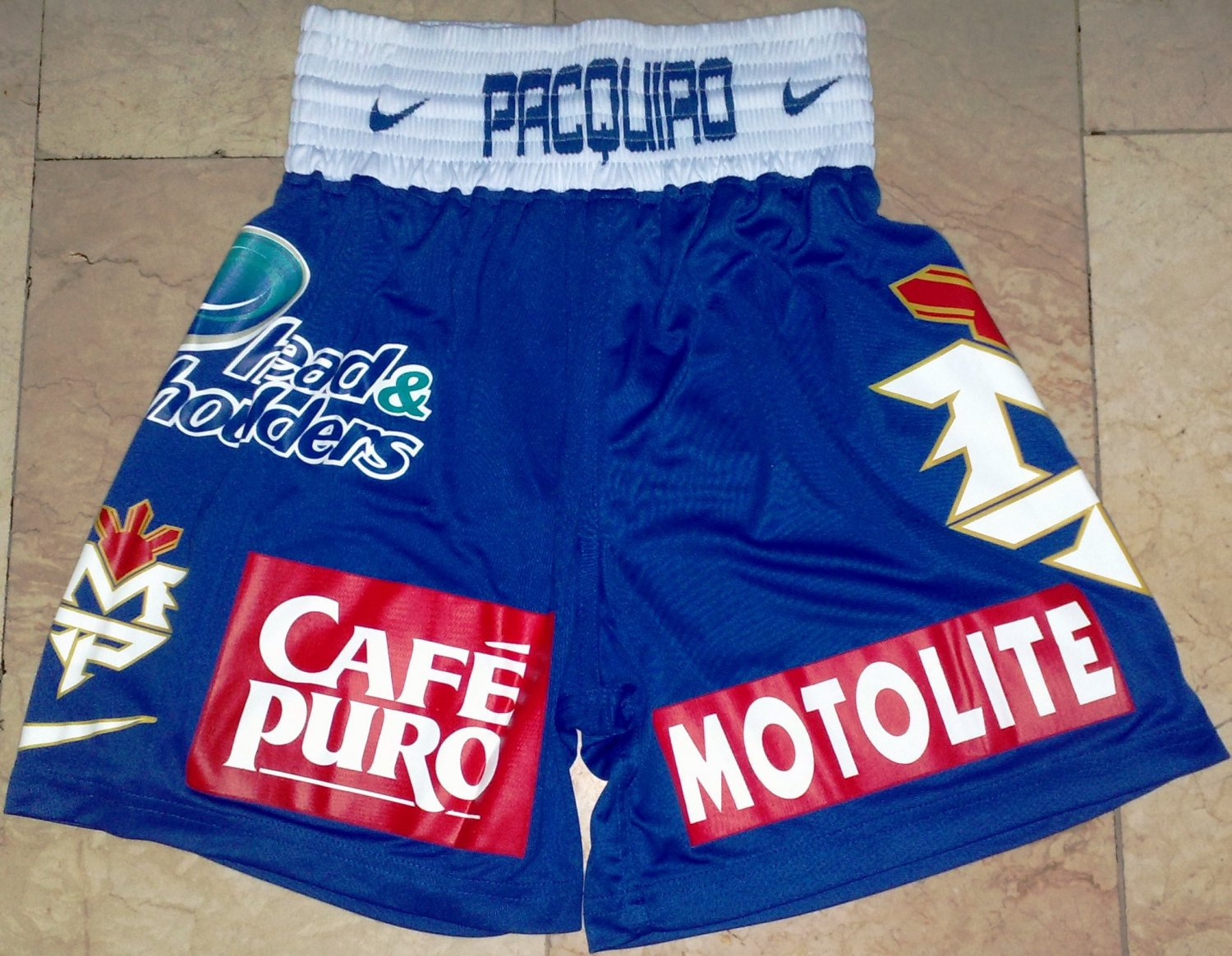 MANNY PACQUIAO Boxing Trunks vs. MOSLEY sz XL New