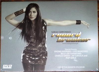SARAH GERONIMO Record Breaker DVD Philippines SEALED