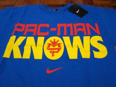 NIKE TEAM PACQUIAO Pacman Knows Shirt sz M L XL 2XL New