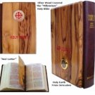 Olive Wood Millennium Bible with Jerusalem Stones