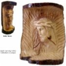 Christ- Carved In Natural Olive Wood