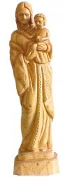 Madonna and Child Olive wood Statue