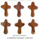 Olive Wood Comfort Cross/ Set of 6