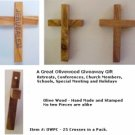 Olivewood Pocket Cross / PK OF 25 Crosses