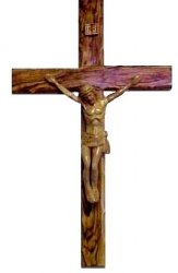 Olive Wood Crucifix  Hand Carved Body Of Christ