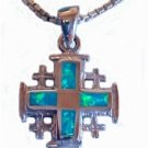 Jerusalem Cross With Opal Stones