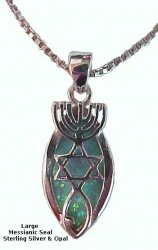 Messianic Seal with Opal Stone-Oval