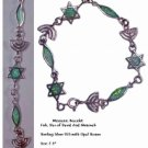 Messianic Bracelet Silver and Opals