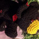 Bruno the Bear Hand Made Crocheted Purse