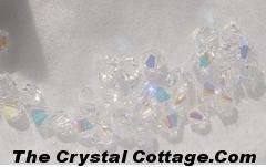 (20) Swarovski 4mm Bicone Crystal Beads~CrystalAB~